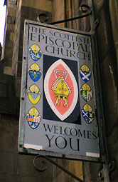 Scottish Episcopal Church welcome sign